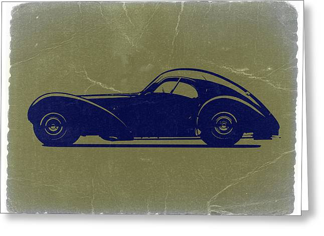 Bugatti 57 S Atlantic Greeting Card by Naxart Studio