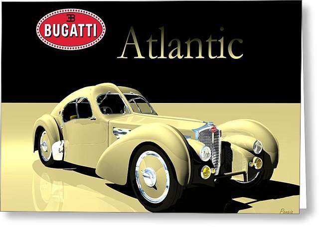 Bugatti Atlantic Greeting Card by John Pangia