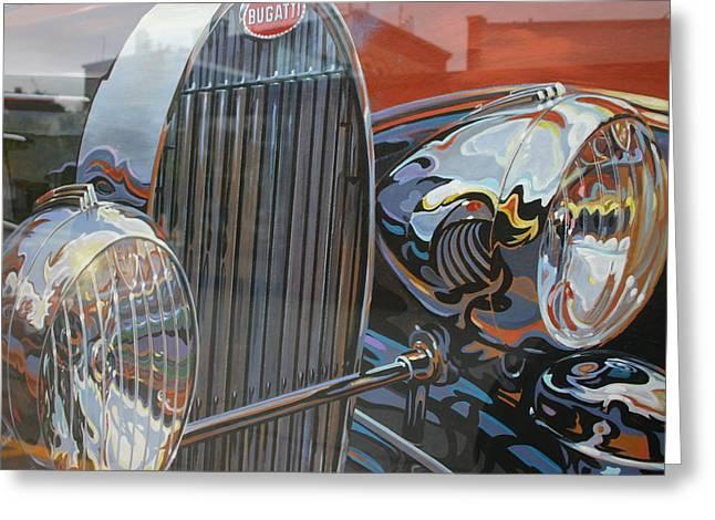 Bugatti Greeting Card by Dennis Curry