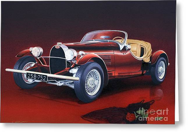 Bugatti. Italian Exotic Car Greeting Card