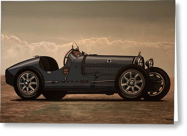 Bugatti Type 35 1924 Mixed Media Greeting Card