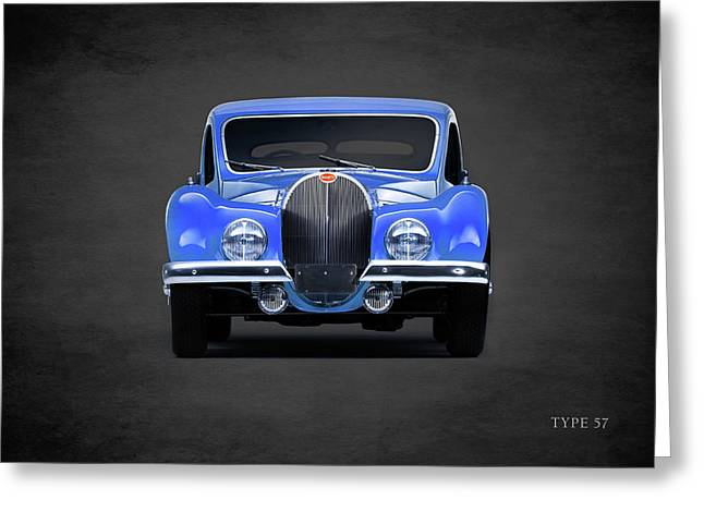 Bugatti Type 57 Greeting Card by Mark Rogan