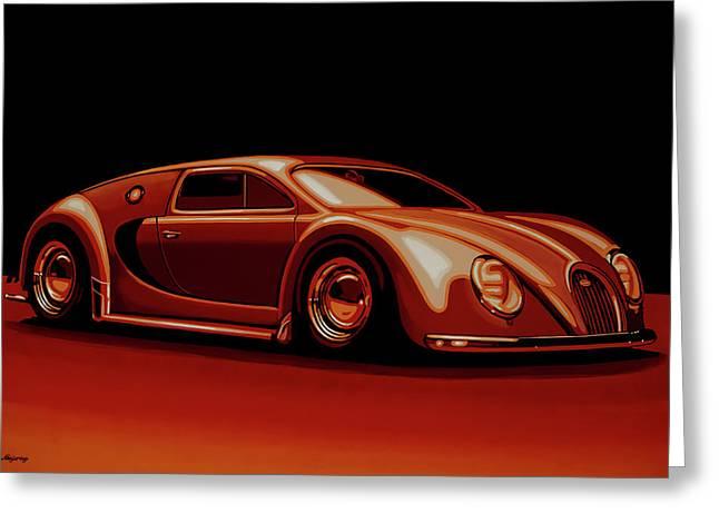 Bugatti Veyron 'beetgatti' 1945 Painting Greeting Card