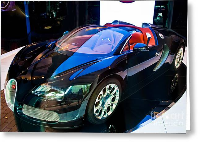 Bugatti Veyron Targa Greeting Card