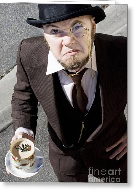 Bugged Man Greeting Card by Jorgo Photography - Wall Art Gallery