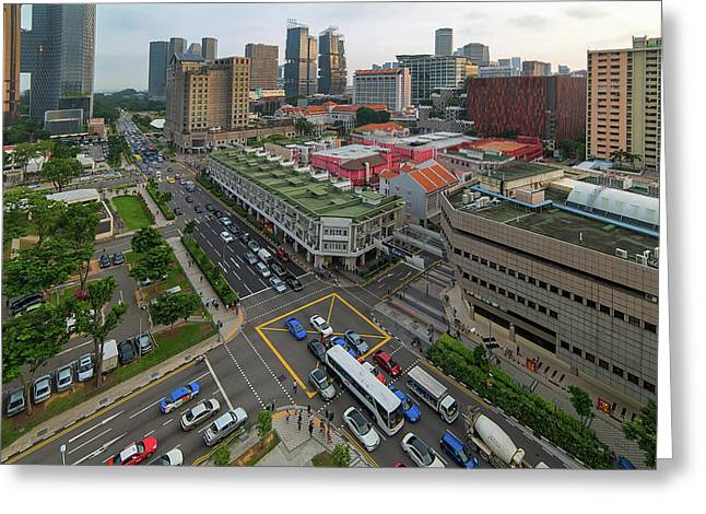 Bugis Village Junction In Singapore Entertainment District Greeting Card by David Gn