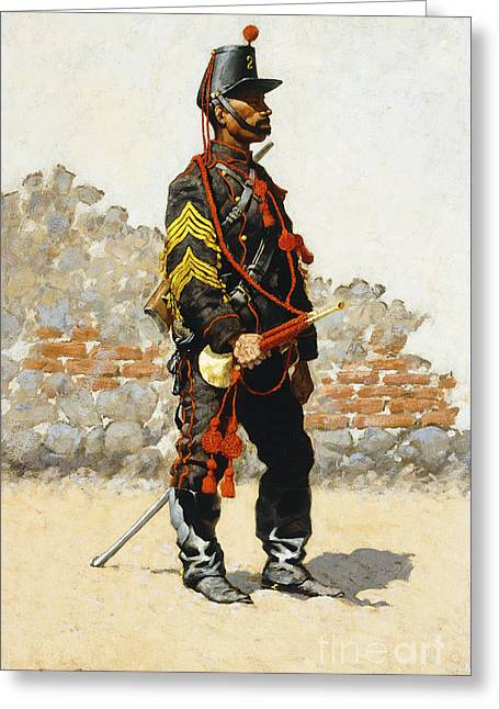 Bugler Of The Cavalry Greeting Card