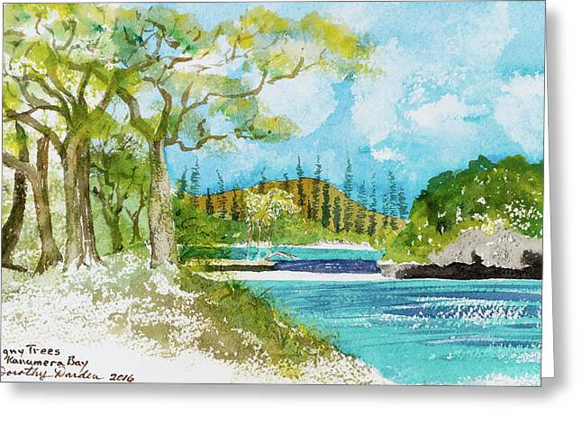 Bugny Trees At Kanumera Bay, Ile Des Pins Greeting Card