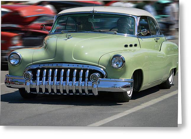 Buick 8 At Speed Greeting Card by Bill Dutting