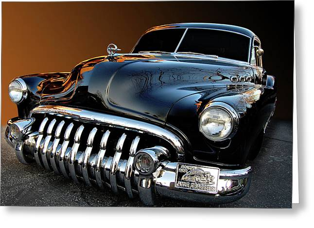 Buick Eight Sled Greeting Card by Bill Dutting