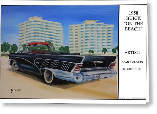 Buick On The Beach Greeting Card by Dean Glorso