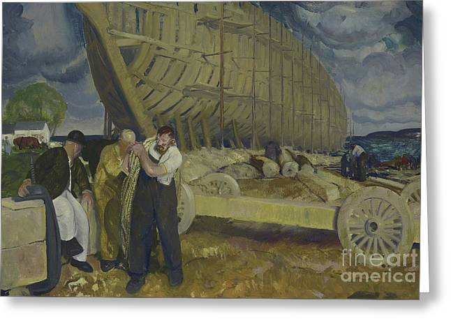 Builders Of Ships Greeting Card