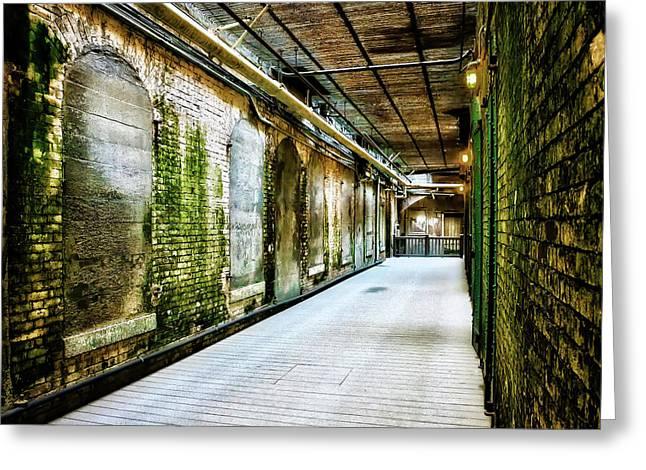 Building 64 Interior Hallway - Alcatraz Island Greeting Card