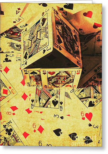 Building Bets And Stacking Odds Greeting Card by Jorgo Photography - Wall Art Gallery
