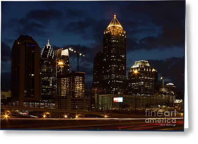 Greeting Card featuring the photograph Building Boom Midtown Atlanta Construction Art by Reid Callaway