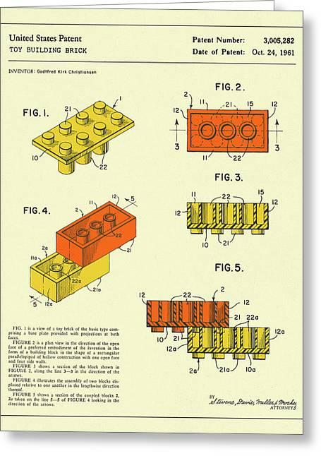 Building Bricks 1961 Greeting Card