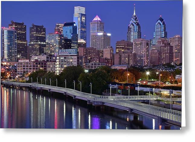 Building Cluster In Philly Greeting Card by Frozen in Time Fine Art Photography