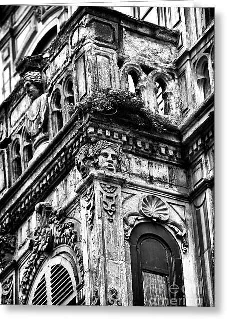 Building Faces Greeting Card by John Rizzuto
