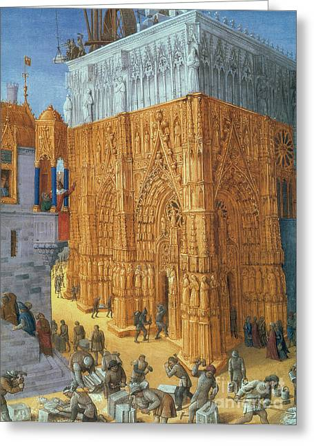 Building Of The Temple Of Jerusalem Greeting Card by Science Source