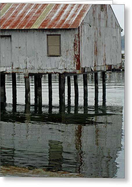 Building Over Water Greeting Card by Matthew Adair