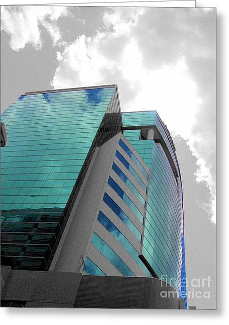 Building Reflection Digital Effects Greeting Card
