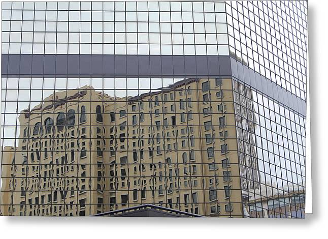 Building Reflection Greeting Card by Jean Booth