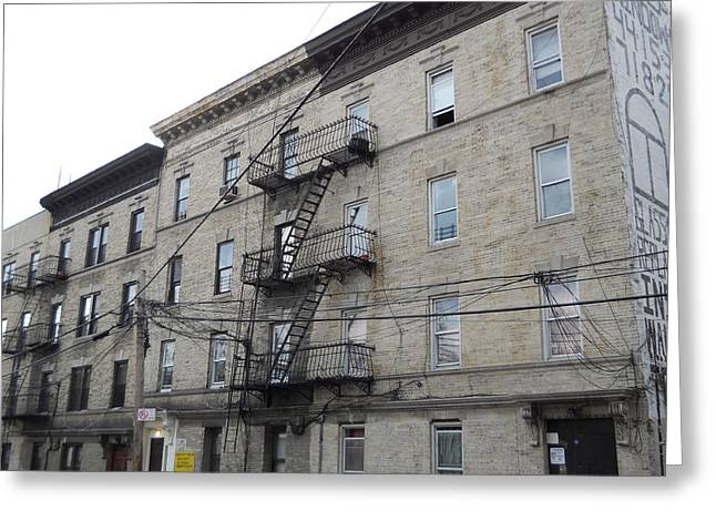 Apartment Building The Bronx Greeting Card