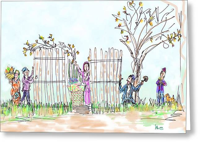 Building The Sukkot Greeting Card