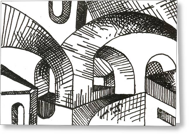 Buildings 1 2015 - Aceo Greeting Card