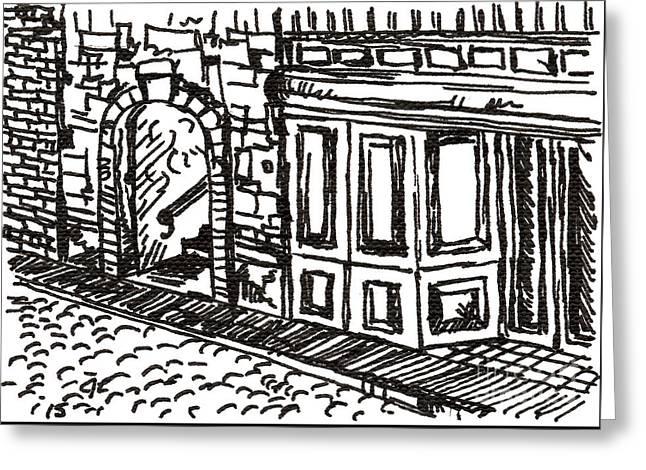 Buildings 2 2015 - Aceo Greeting Card