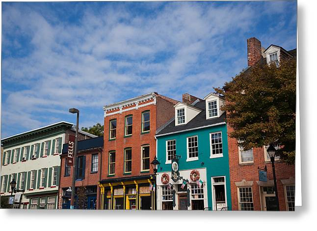 Buildings Along A Street, Thames Greeting Card by Panoramic Images