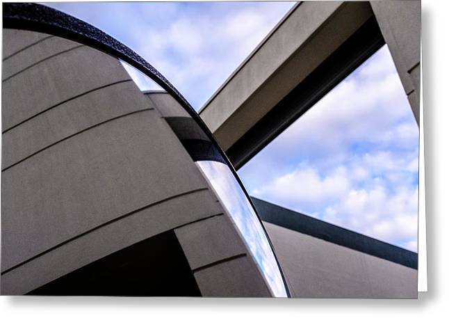 Buildings And Shapes With A Blue Sky In Orlando Florida Greeting Card