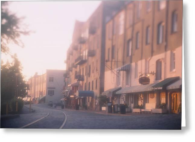 Buildings At The Roadside, Savannah Greeting Card
