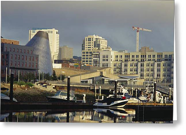 Buildings At The Waterfront, Thea Foss Greeting Card