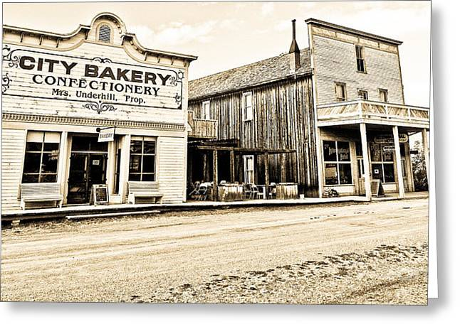 Buildings In The Eighteen Hundreds Town Of Fort Steele Bc Canada Greeting Card by Emilio Lovisa