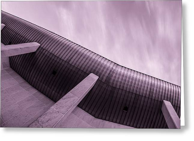 Buildings In The Sci-fi Sensation Panorama Greeting Card by Tommytechno Sweden