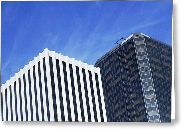 Buildings  Greeting Card by Paul SEQUENCE Ferguson             sequence dot net