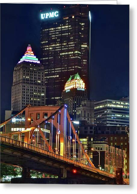 Buildings Towering Over Pittsburgh Greeting Card