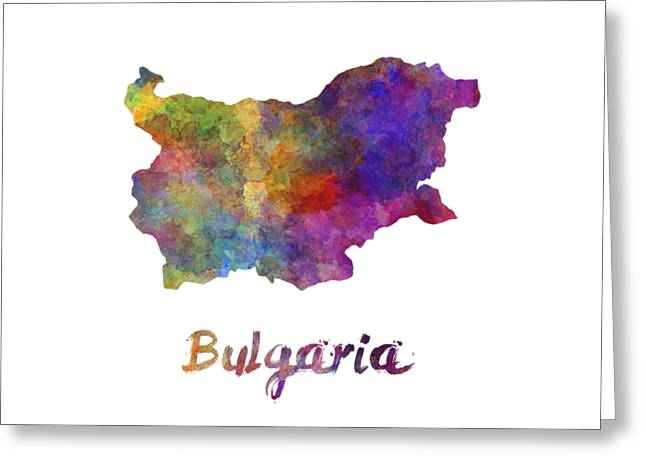 Bulgaria In Watercolor Greeting Card by Pablo Romero