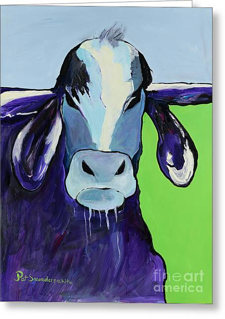 Bull Drool Greeting Card by Pat Saunders-White