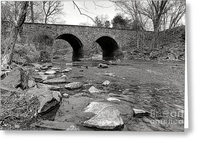 Bull Run Bridge Greeting Card by Olivier Le Queinec
