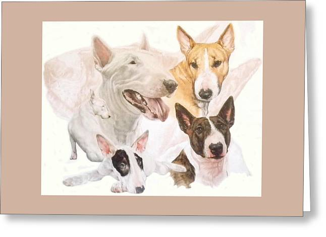 Bull Terrier Grouping Greeting Card