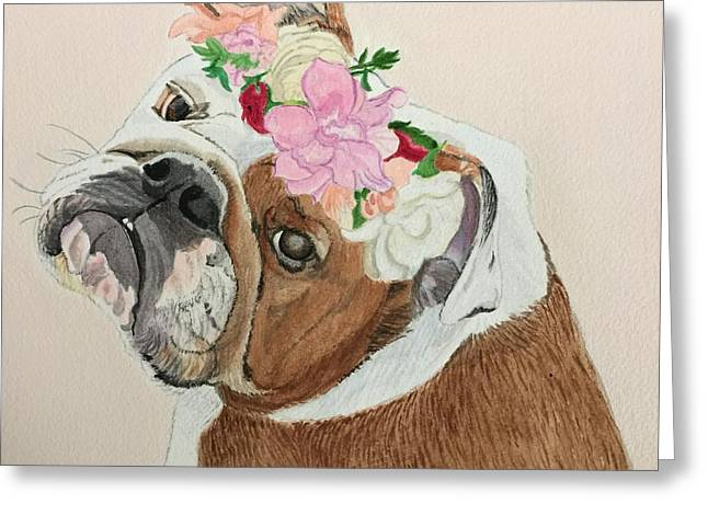 Bulldog Bridesmaid Greeting Card