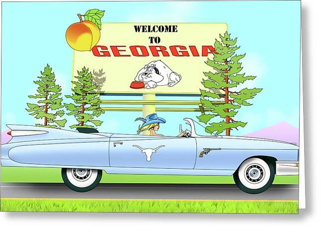 Bulldog Country Greeting Card by Lynn Rider