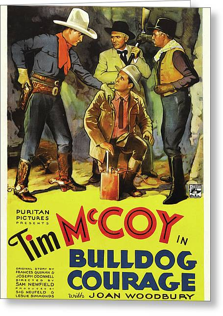 Bulldog Courage 1935 Greeting Card by Mountain Dreams