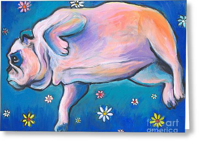 Bulldog Dreams Greeting Card by Svetlana Novikova