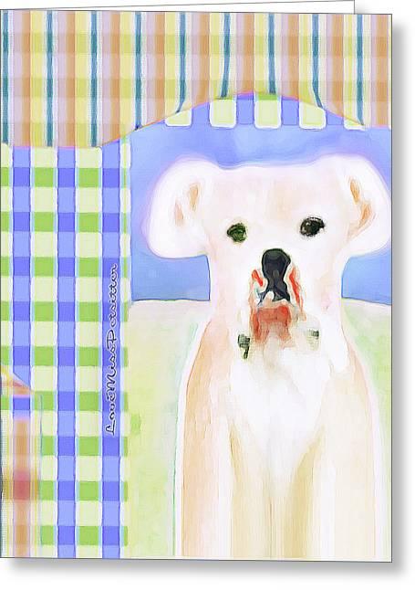 Bulldog Rana Art 40 Greeting Card