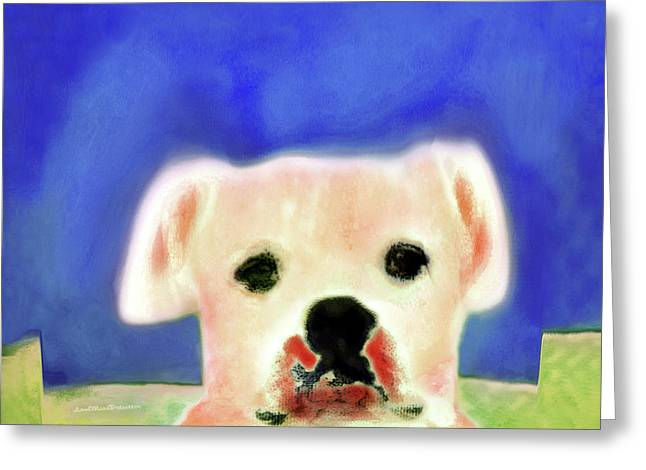 Bulldog Rana Art 7 Greeting Card