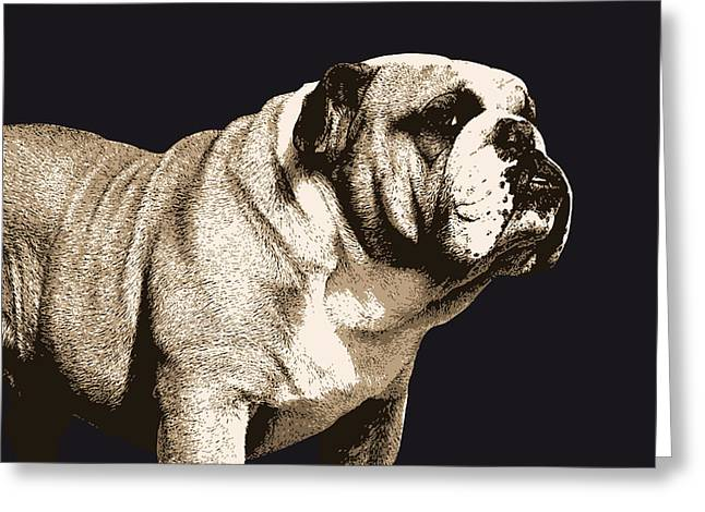 British Bulldog Greeting Cards - Bulldog Spirit Greeting Card by Michael Tompsett