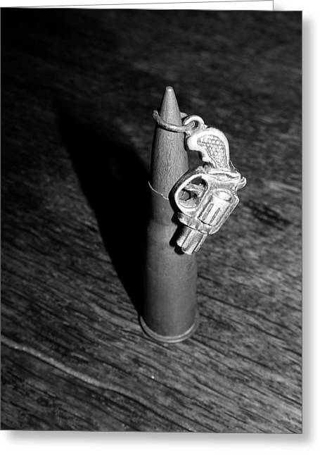 Bullet And Gun Greeting Card by Navorol Photography
